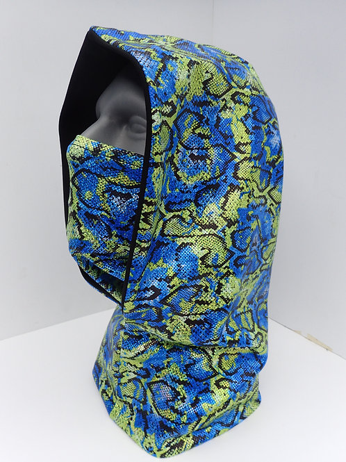 Snakeskin Rave Hood and Face Mask