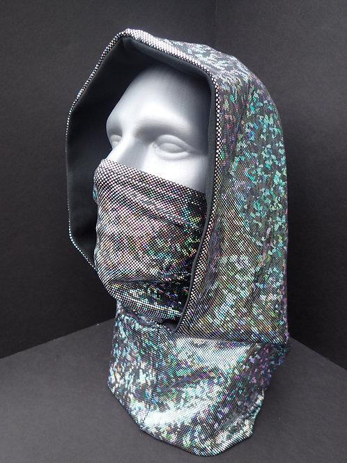 Silver Ninja Hood and Face Mask