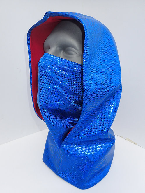 Blue Ninja Hood and Face Mask