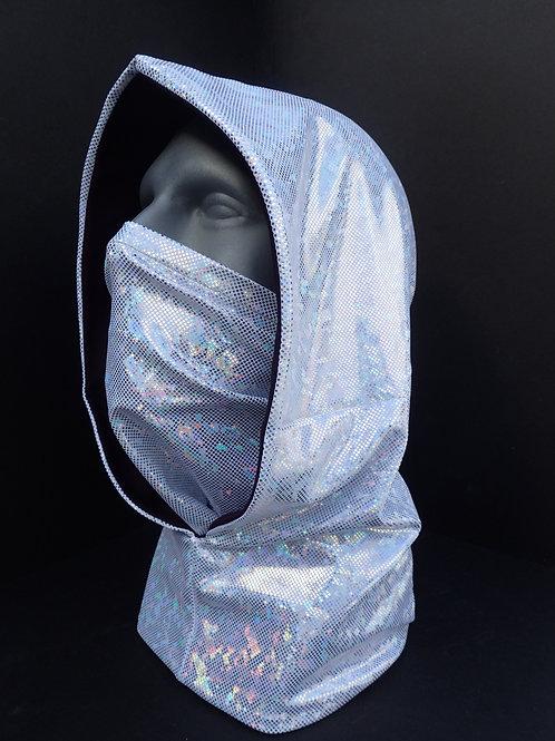 White Ninja Hood and Face Mask