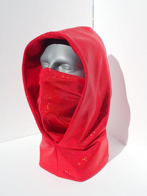 Red Ninja Hood and Face Mask