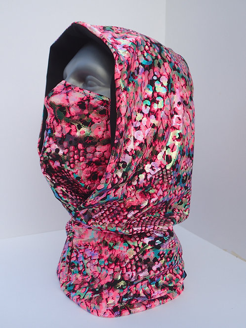 Pink Dragon Ninja Hood and Face Mask