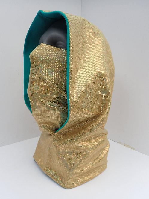 Gold Ninja Hood and Face Mask