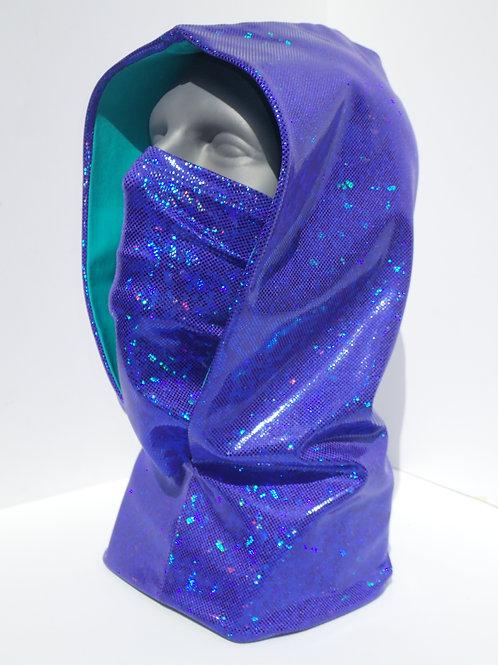 Purple Ninja Hood and Face Mask