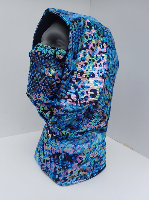 Blue Dragon Ninja Hood and Face Mask