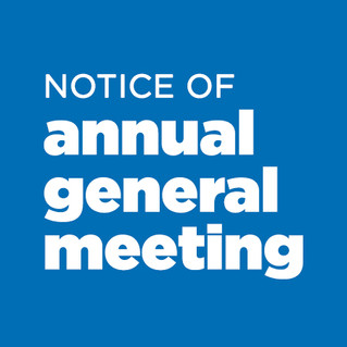 2019 Annual General Meeting - 14th October 2019
