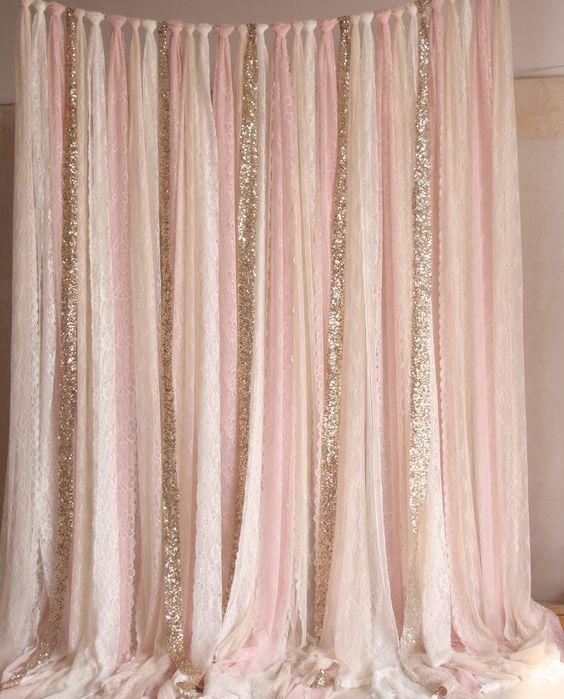backdrop pink gold