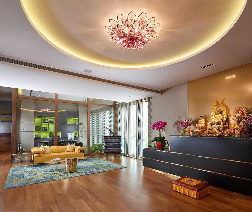 Chestnut Crescent - Prayer room - Best Landed Property - Cove light - Best Interior Design Singapore - Designworx Interior Consultant