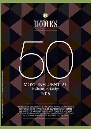 Singapore Tatler Homes Most Influential in Singapore Design 2015 l Designworx Interior Consultant