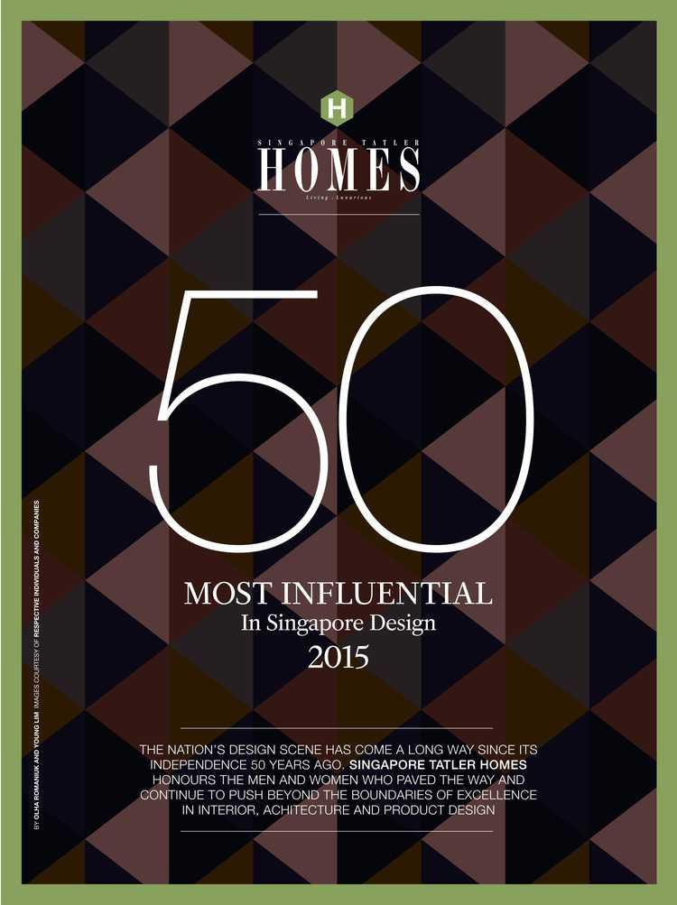 Singapore Tatler Homes 2015 - Most Influential in Singapore Design - The Noteworthy - Designworx Interior Consultant