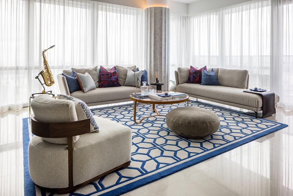 wallich residence, rhapsody in blue, designworx interior