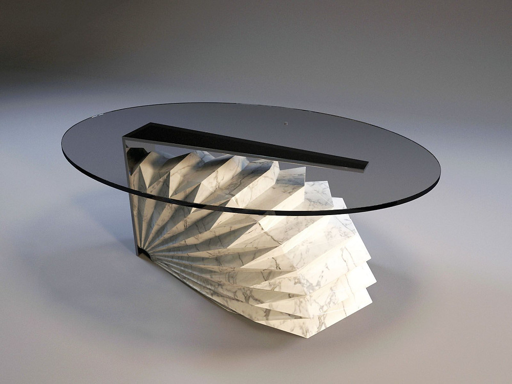 A prototype table designed by Designworx Interior Consultant