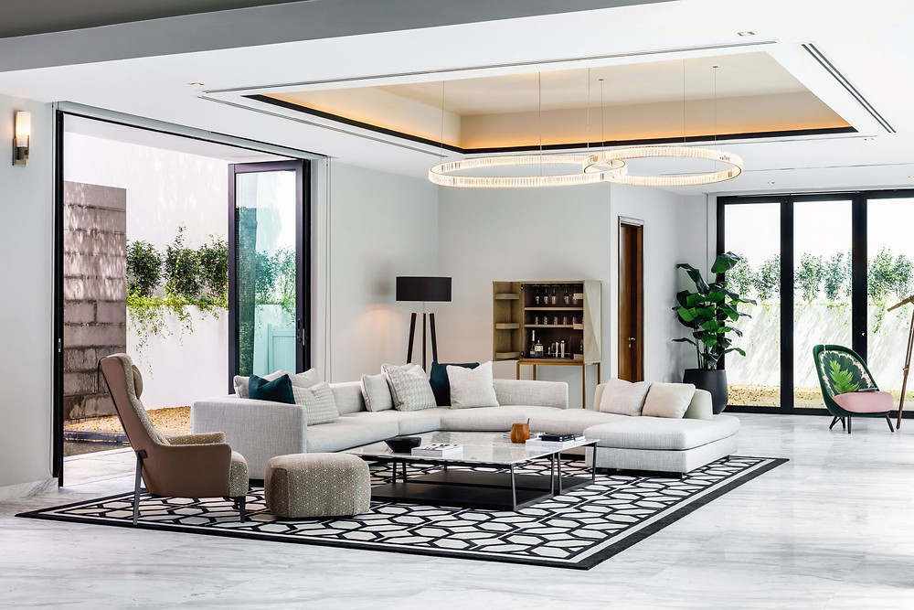 A clean and contemporary sleekly designed by Designworx Interior Consultant