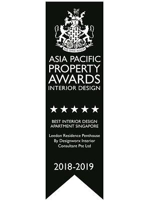 Asia Pacific Property Awards l Best Interior Design l Apartment Singapore l Designworx Interior Consultant