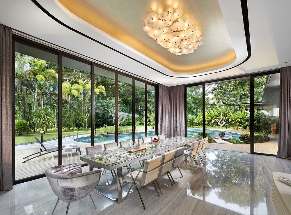 GCB at Leedon Park - Dining area, pool view