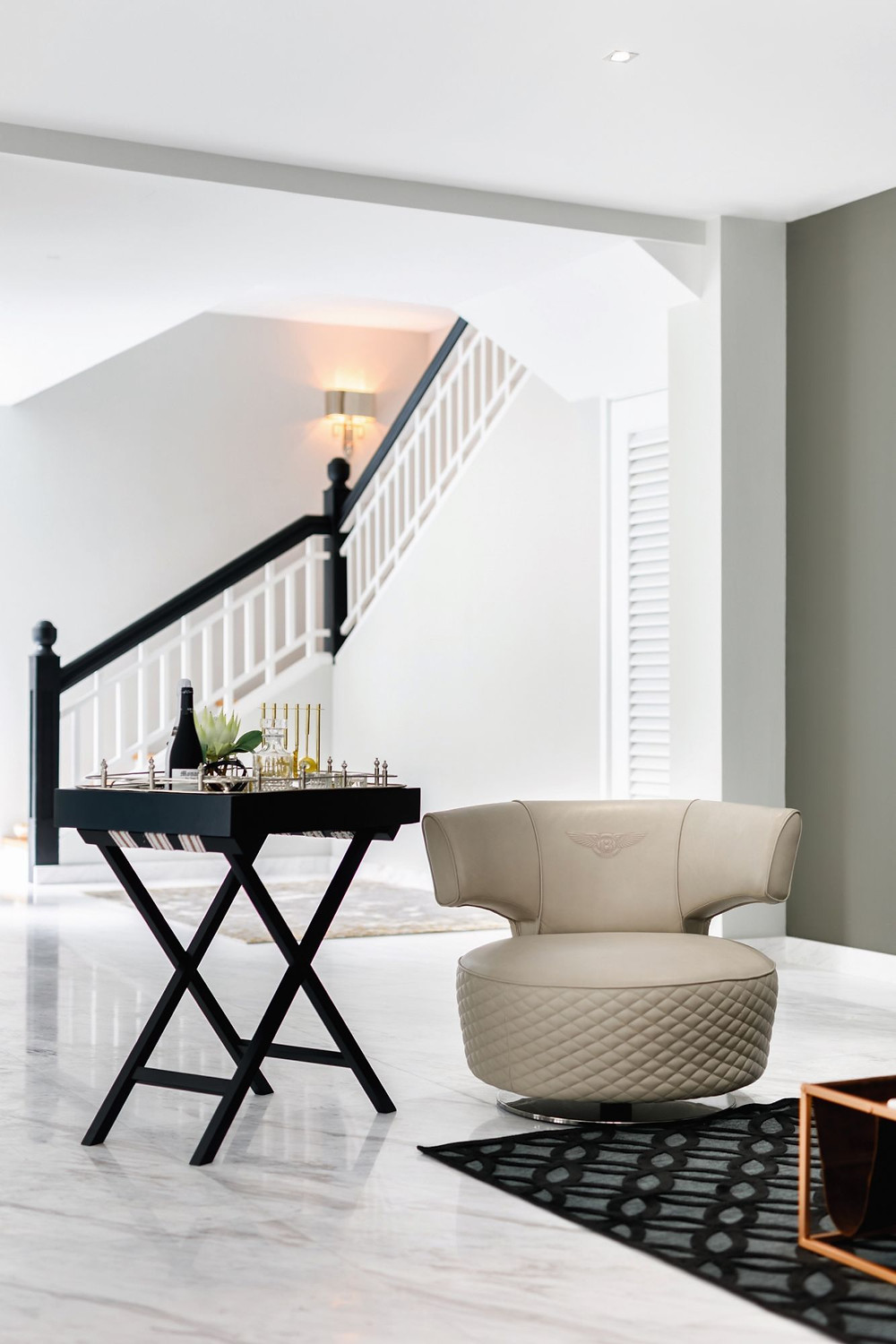 The informal living room of a chic bungalow designed by Designworx Interior Consultant