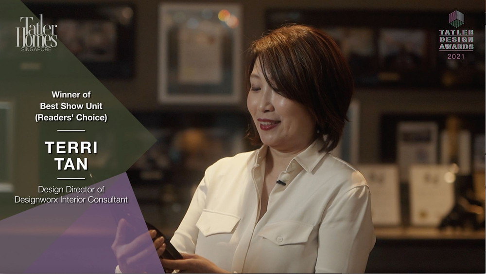 tatler homes singapore, best show unit, terri tan, designworx interior consultant