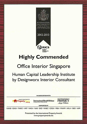 International Property Awards l Highly Commended l Office Interior l Designworx Interior Consultant