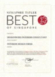Singapore Tatler Best of Singapore 2012 l Best Interio Design Firms l Designworx Interior Consultant