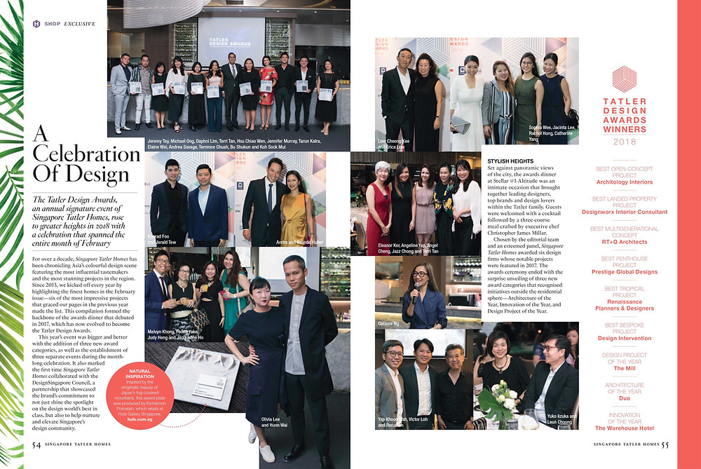 Singapore Tatler Design Awards 2018 - A Celebration of Design - Designworx Interior Consultant - Best Landed Property Singapore