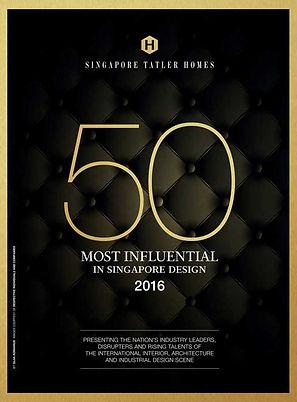 Singapore Tatler Homes Most Influential in Singapore Design 2016 l Designworx Interior Consultant