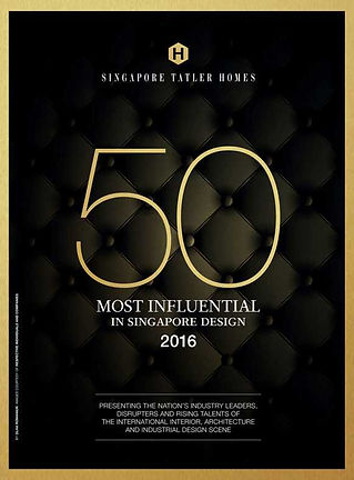 Singapore Tatler Homes Most Influential in Singapore Design 2016 l Designworx Interior Consultant