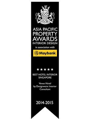 Asia Pacific Property Awards l Best Hotel Interior l Apartment Singapore l Designworx Interior Consultant