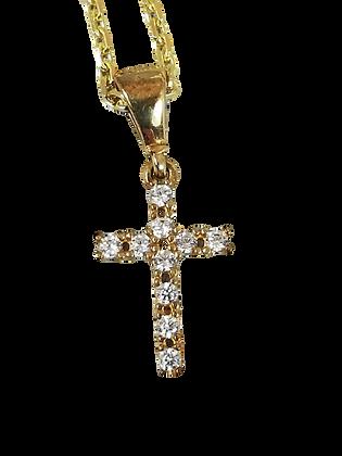 Kreuzanhänger aus Gelbgold