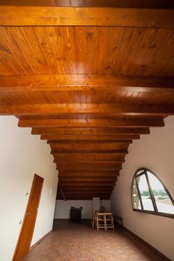 Coberta fusta torre El Brull