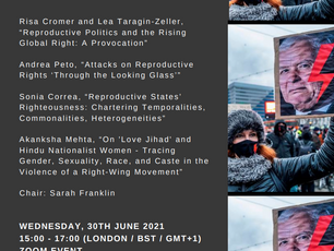 Upcoming Talk - Reproductive Righteousness and the Alt-Right State