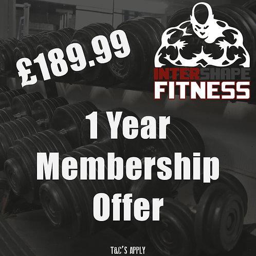 1 Year membership offer