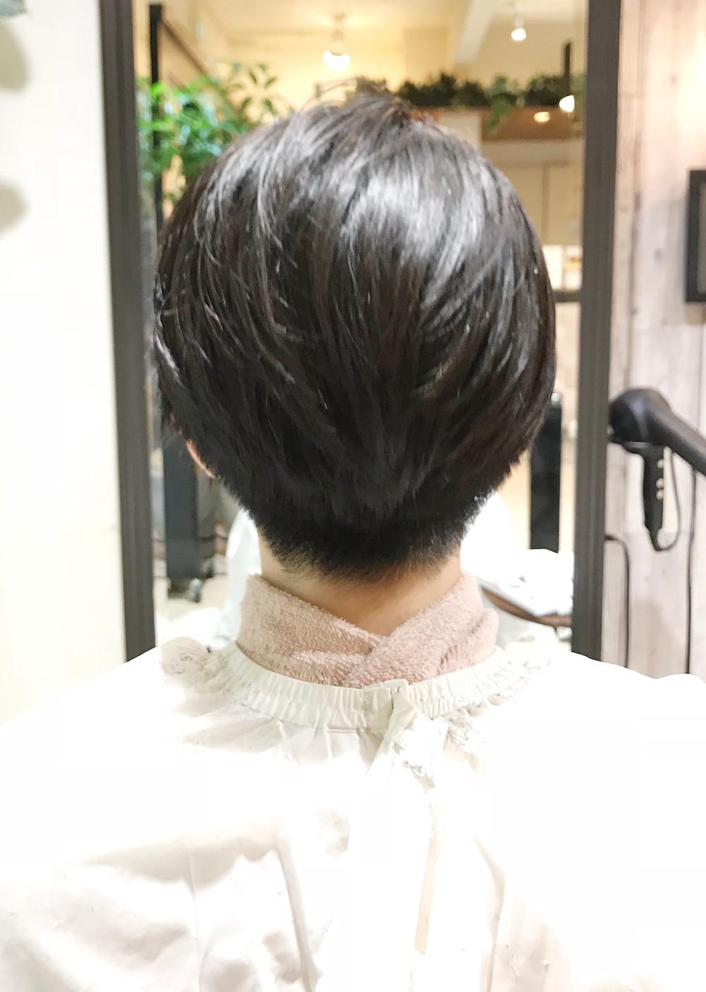 女子の刈り上げヘア