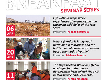 SWOP Breakfast Seminar Series - First Semester