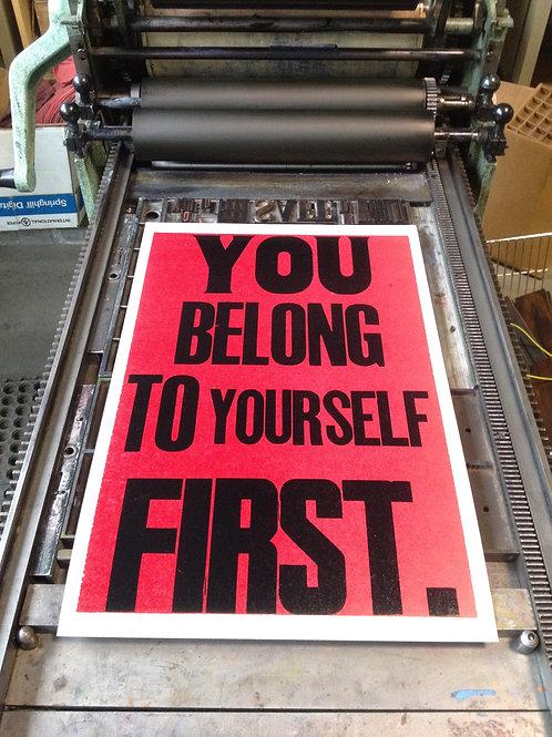 You belong to yourself