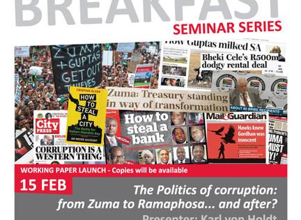 2019 SWOP Breakfast Seminar 1 - The politics of corruption