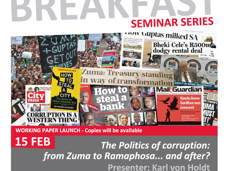 2019 SWOP Breakfast Seminar 1 - The politics of corruption