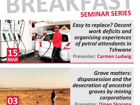 SWOP Breakfast Seminar Series - First Semester