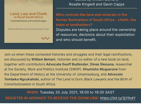 [Book Launch] Land, Law and Chiefs in Rural South Africa