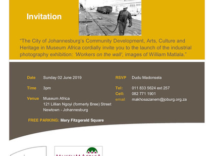 Workers on the Wall - Photography Exhibition Invite