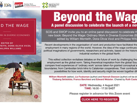 [Book Launch] Beyond the Wage: Ordinary Work in Diverse Economies