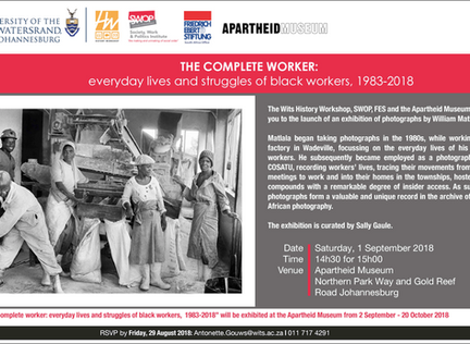 """The Complete Worker"" exhibition launches in September"