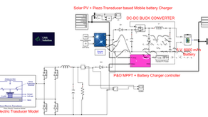 Solar PV and Piezo Transducer based Mobile battery charger