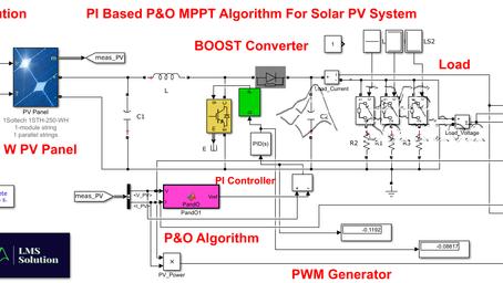 MATLAB - P&O-PI Based MPPT for Solar PV System