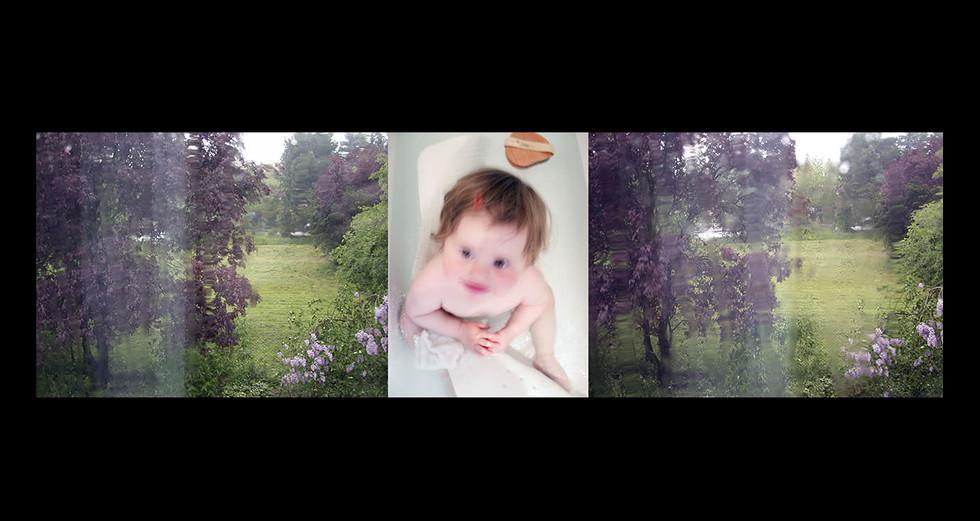 """ENFANCE 2 - LE JOUR """" Vert laiteux """""""