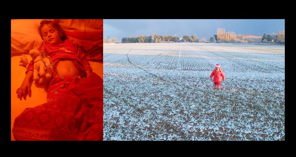 """ENFANCE 2 - LE JOUR """" Rouge rayonant """""""