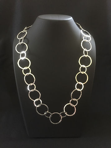 Sterling Silver Hammered Chain Necklace