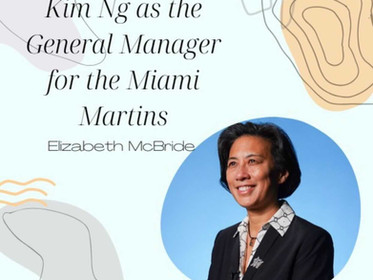 Kim Ng as the General Manager for the Miami Marlins