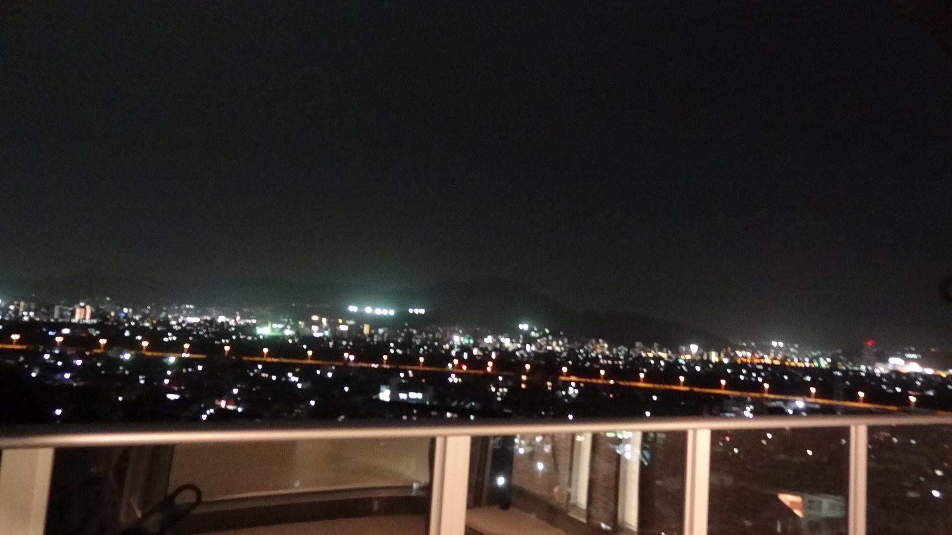 夜景がきれいです。
