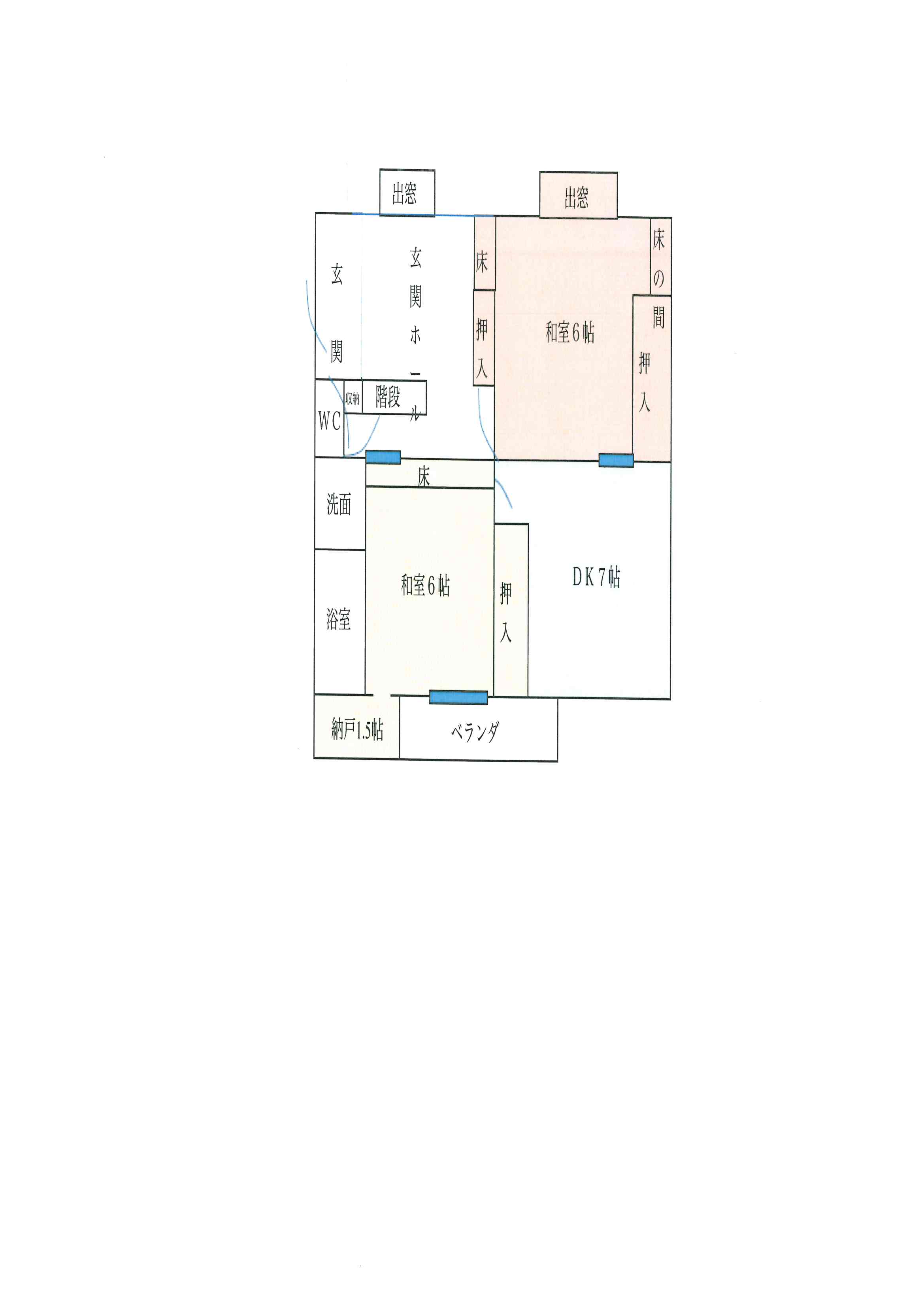 間取り図 1階