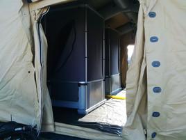Montaje KLYN Camp en tienda Losberger.jp